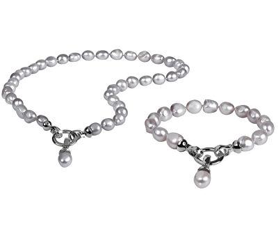 Zvýhodněná perlová souprava šperků JL0557 a JL0558 (náramek, náhrdelník)