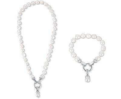 Zvýhodněná perlová souprava šperků JL0559 a JL0560 (náramek, náhrdelník)
