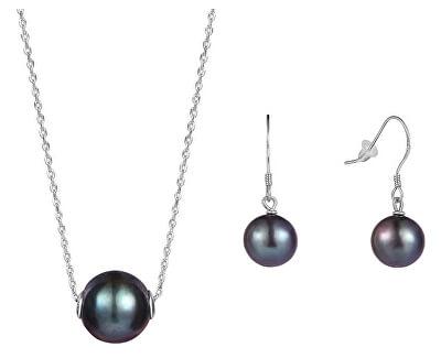Zvýhodněná perlová souprava šperků JL0582 a JL0595 (náušnice, náhrdelník)