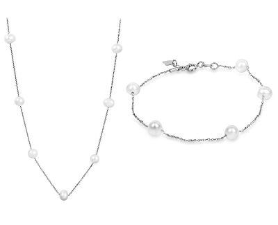 Zvýhodnená súprava šperkov JL0355 a JL0353 (náramok, náhrdelník)