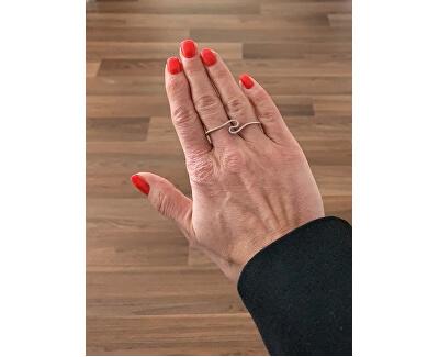 Dvojitý stříbrný prsten s krystaly SVLR14975