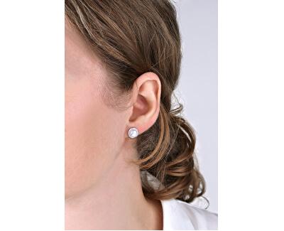 Glitzernde Silber Ohrringe mit Perlen SVLE0640XH2P100