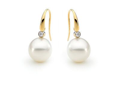 Elegantní perlové náušnice se zirkony SVLE0374SH2PG00