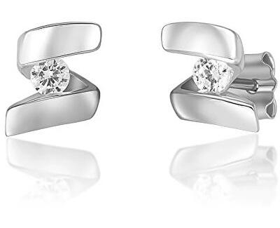 Elegante Silber Ohrringe mit Zirkonen SVLE0635XH2BI00