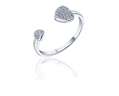 Hravý otevřený stříbrný prsten se zirkony SVLR0335XH2BI