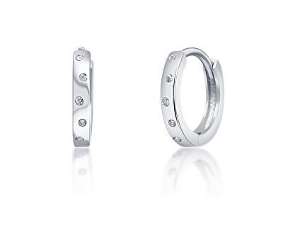 Krásné stříbrné náušnice kruhy se zirkony SVLE0939XI2BI00
