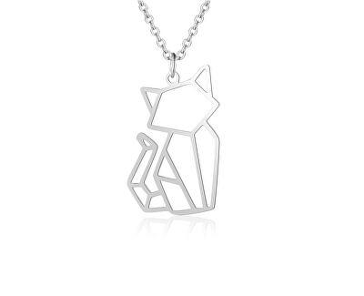 Krásný stříbrný přívěsek Kočička SVLP0552XH20000