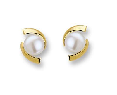 Luxusní pozlacené náušnice s perlami SVLE0641XH2PG00