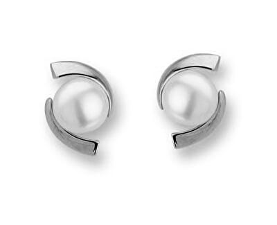 Luxusní stříbrné náušnice s perlami SVLE0641XH2P100