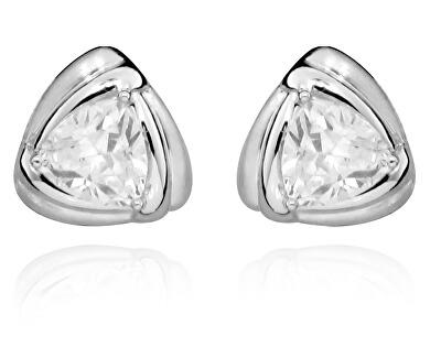 Orecchini minimalistici in argento a bottone SVLE0343SH8BI00