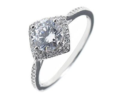 Moderní stříbrný prsten se zirkony SVLR0331XH2BI