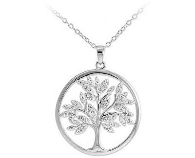 Nadčasový stříbrný přívěsek se zirkony Strom života SVLP0599XH2BI00