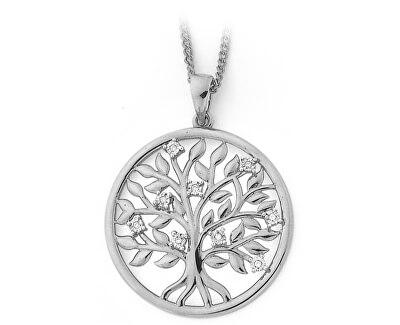 Nádherný stříbrný přívěsek se zirkony Strom života SVLP0597XH2BI00