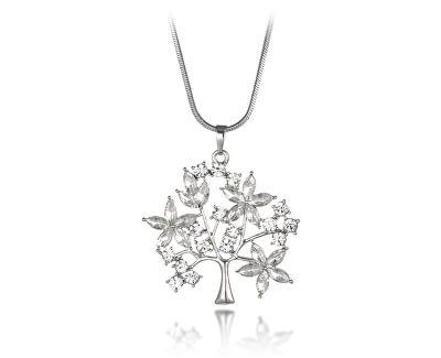 Nádherný stříbrný přívěsek se zirkony Strom života SVLP0605XH2BI00