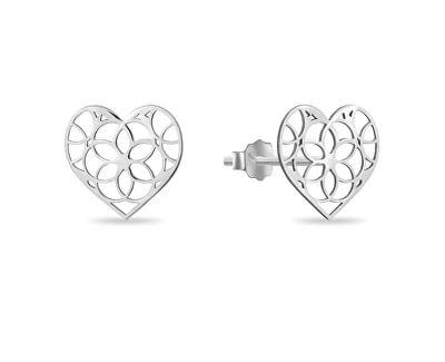 Něžné stříbrné náušnice Srdce SVLE0971XH20000