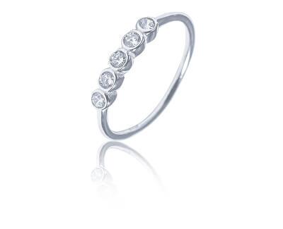 Něžný stříbrný prsten se zirkony SVLR0348XF3BI