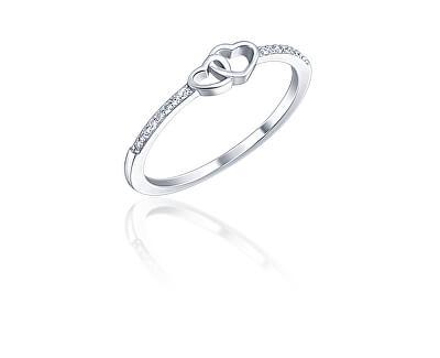 Něžný stříbrný prsten se zirkony SVLR0353XI2BI