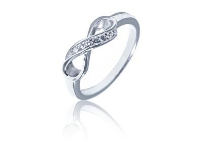Okouzlující stříbrný prsten nekonečno SVLR0322XH2BI