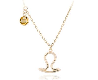 Colier placat cu aur cu pandantiv Balanță SVLN0135X61GOVA