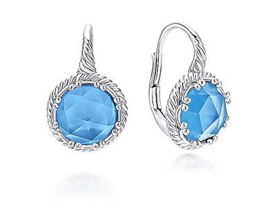 Půvabné stříbrné náušnice s modrými zirkony SVLE0972XH2BI00