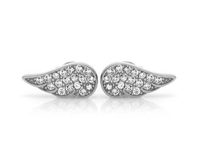 Stříbrné náušnice Andělská křídla SVLE0657XH2BI00