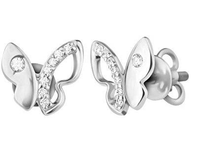 Silber Ohrringe Schmetterlinge SVLE0632XH2BI00
