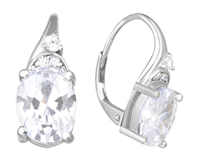 Stříbrné náušnice s třpytivými zirkony SVLE0658XH2BI00