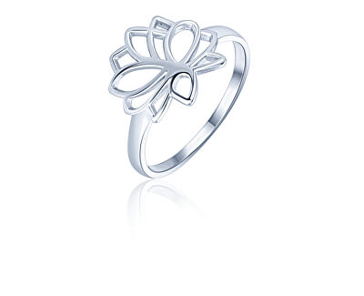 Stříbrný minimalistický prsten Lotosový květ SVLR0313XH200