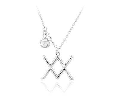 Stříbrný náhrdelník s přívěskem Vodnář SVLN0135X6100VO-W