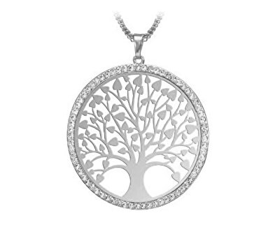 Stříbrný přívěsek se zirkony Strom života SVLP0568XH2BI00