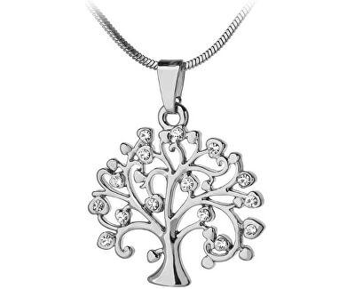 Stříbrný přívěsek se zirkony Strom života SVLP0595XH2BI00