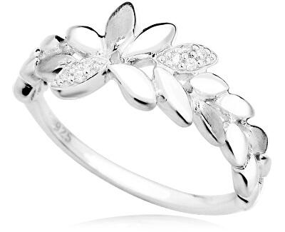 Stříbrný prsten s lístečky SVLR0139SH8BI