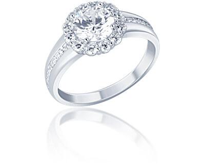 Třpytivý stříbrný prsten se zirkony SVLR0321XF3BI