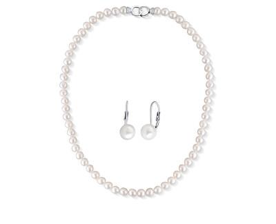 Zvýhodněná sada šperků s perlami SVLE0476XD2P1, SVLN0010SD2P1 (náhrdelník, náušnice)