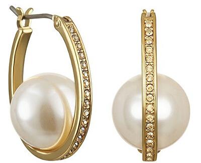 Cercei rotunzi cu perlă si cristale 5465725