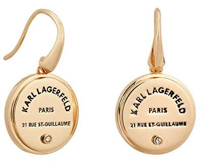 Cercei simpatici placați cu aur cu logo distinctiv 5545289