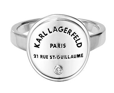Stylový prsten s výrazným logem 554530