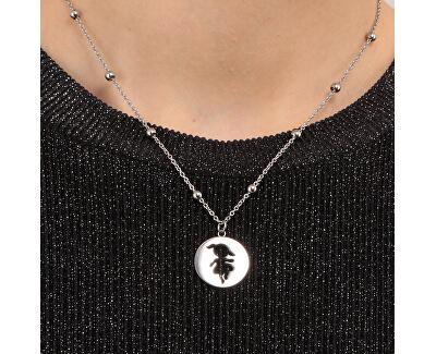 Ocelový náhrdelník s kuličkami Holčička LPS10AQL01