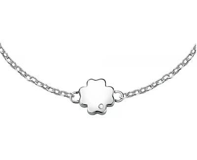 Ocelový náramek se čtyřlístkem pro štěstí Friendship LPS05ARR68