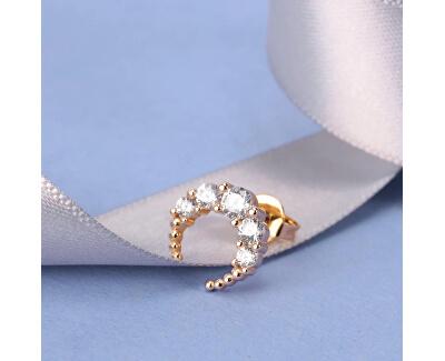 Pozlacená single náušnice s krystaly LPS02ARQ105