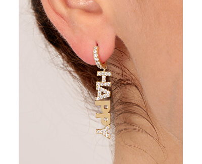 Single félkör alakú fülbevaló Happy LPS02ARQ88 - 1 db