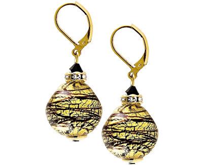 Luxusní souprava šperků Golden Tiger z perel Lampglas s 24karátovým zlatem CQ5 (náhrdelník, náušnice)