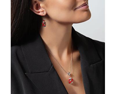 Vášnivý dámský náhrdelník Scarlet Passion s perlou Lampglas NSA16