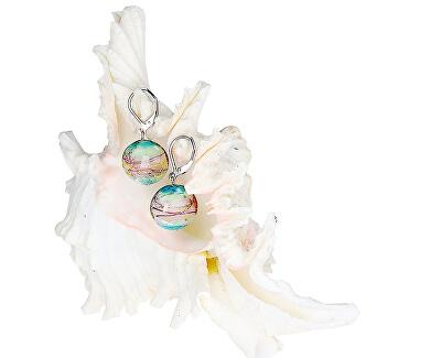 Zarte Ohrringe für Kinder aus Lampglasperlen mit reinem EP22-Silber