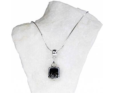 Einzigartige Damenhalskette mit Lampglas NSA11 Perle
