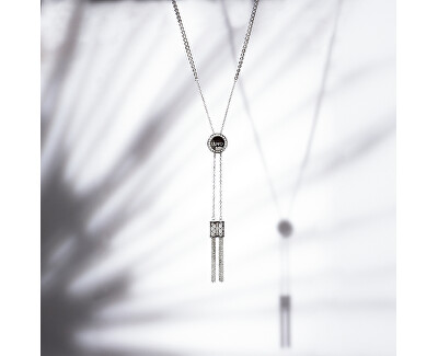 Oceľový náhrdelník so strapcami LJ1293