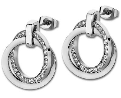 Cercei din oțel cu cristale LS1780-4/1