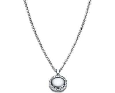 Edelstahl Halskette mit Kristallen LS1775-1/1