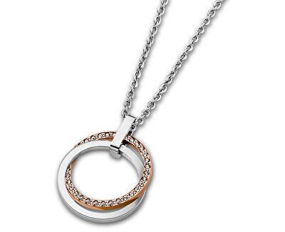Edelstahl Halskette mit Kristallen LS1780-1/2