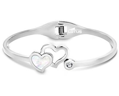 Edelstahl Armband mit Herzen LS1792-2/1